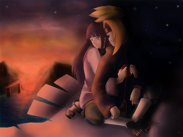 comments | Tags: bird, couple, deidara, deihina, hinata, naruto, sunset
